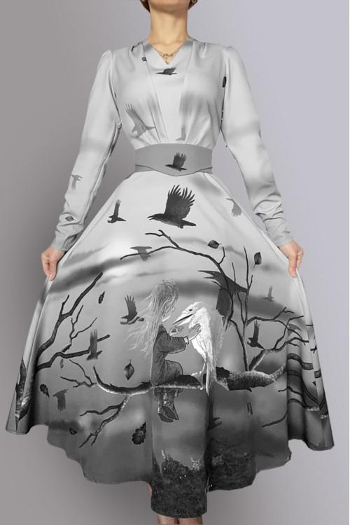 Платье Есения (Белая ворона)
