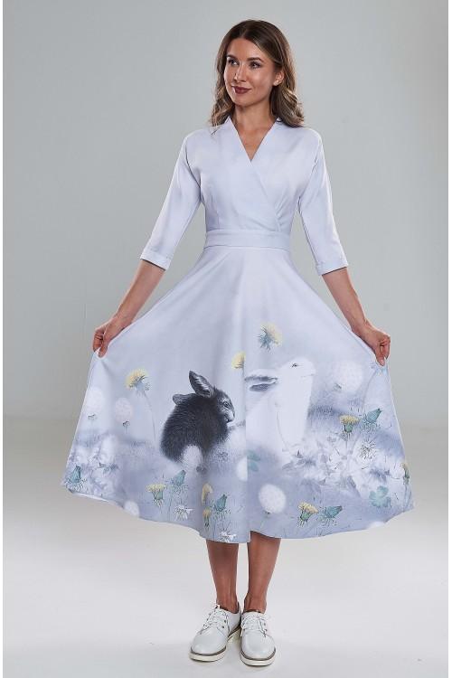 Платье Фаина (Черный и Белый заяц)
