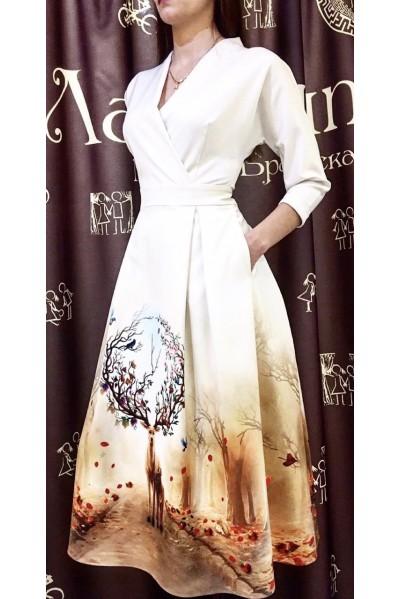 Платье Фаина (Олень.Времена года)