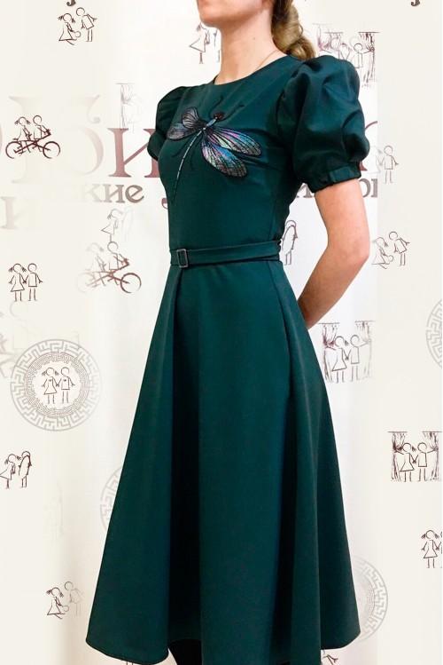 Платье Фиона (Стрекоза,зеленый)
