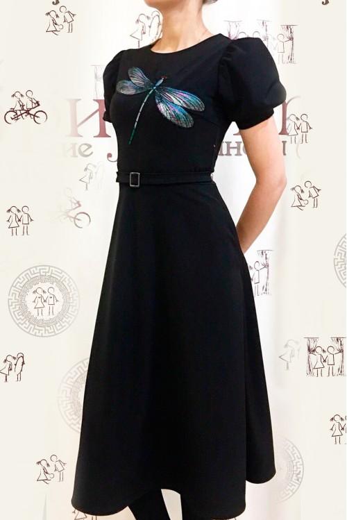Платье Фиона (Стрекоза, черный)