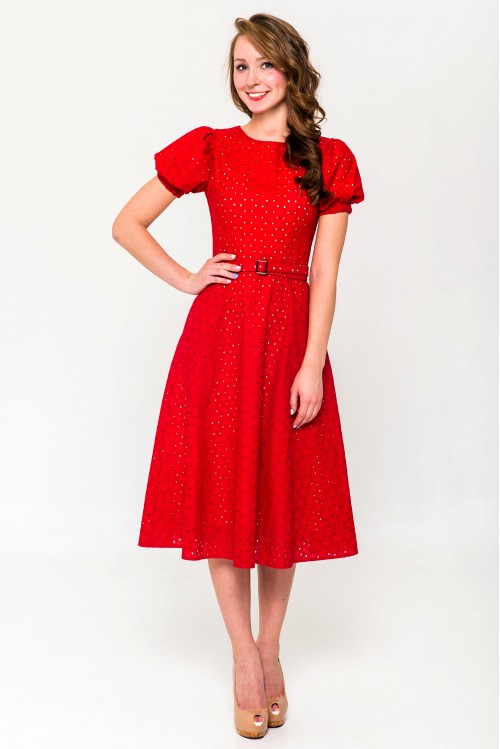 Платье Фиона (Кантри, красный)