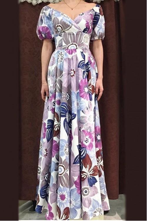 Платье Фонарик (Цветы I)