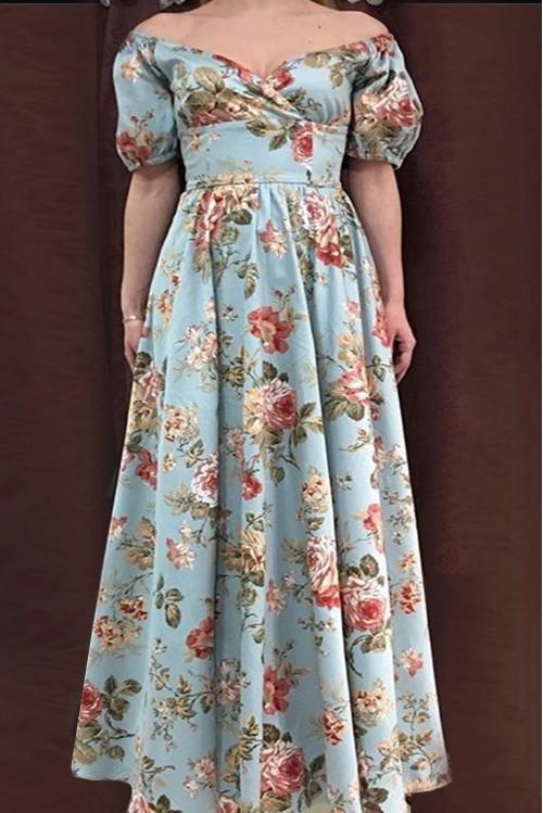Платье Фонарик (Цветы III)