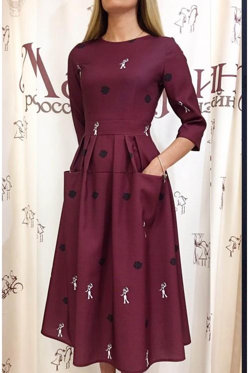 Платье Франсуаза (Пьеро,бордо)
