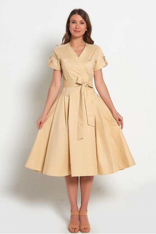 Платье Геля (Бежевое)