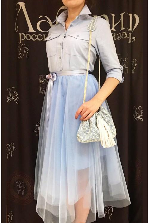 Платье Городское Сафари (голубой)