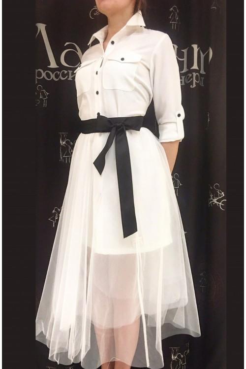 Платье Городское Сафари (белый)