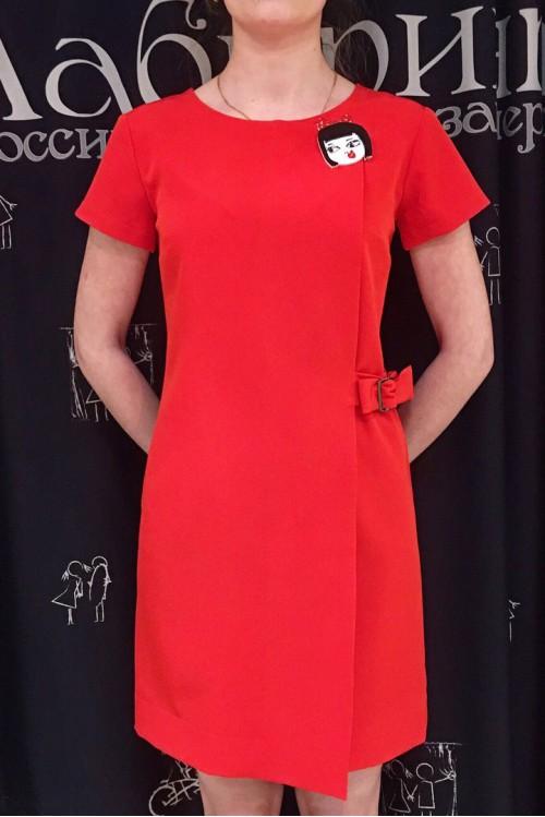 Платье Инга (красный)