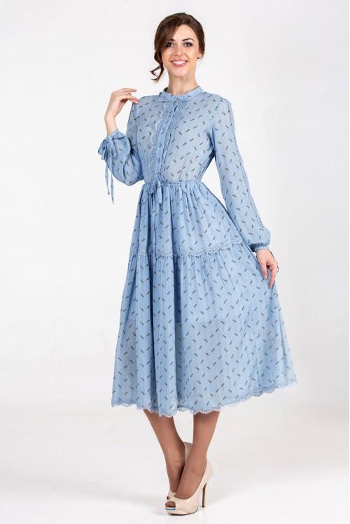 Платье Ирина (голубой)