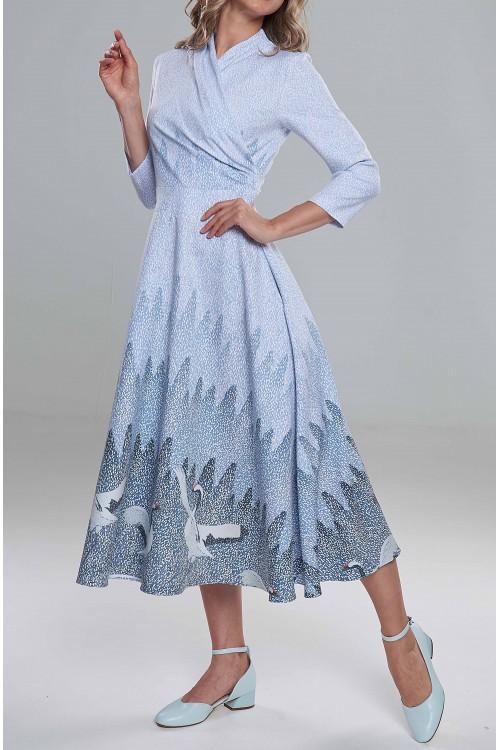 Платье Ирма (Журавли в снегопад/ Одинокие волчицы)