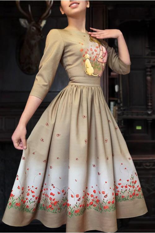 Платье Кети 3 ( Девочка с собачкой )