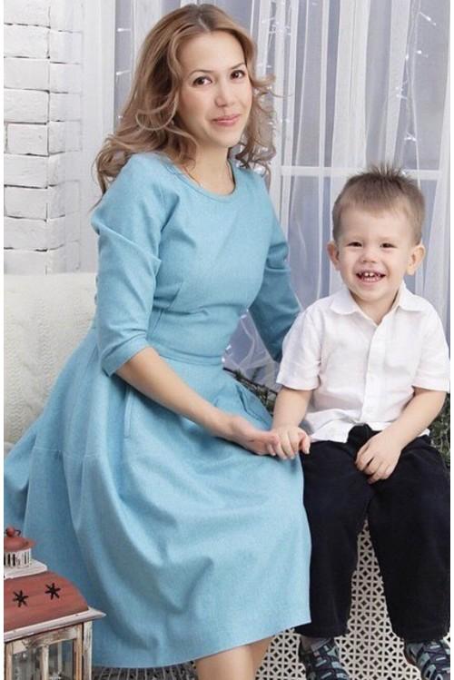 Платье Колокол (голубой)