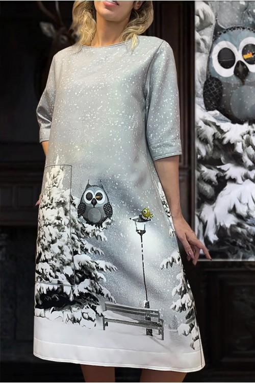 Платье Кристина (В ассортименте) из тёплой ткани