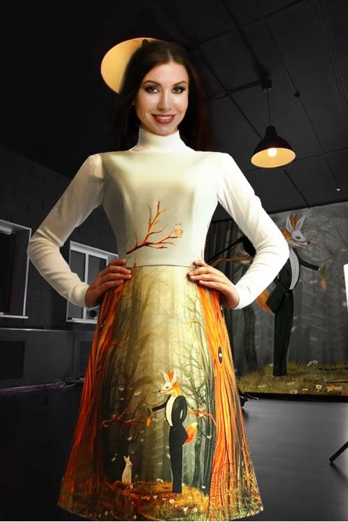 Платье Лада (Красная шапочка и серый волк)