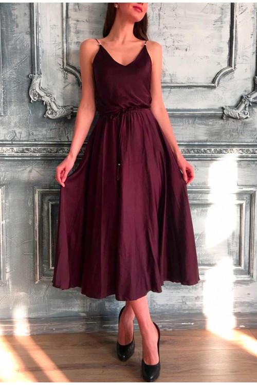 Платье Лайма (коричневый)