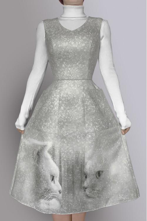 Платье Лида (Кот, отражение)