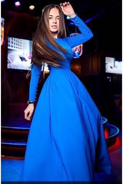 Платье Луиза (васильковый).