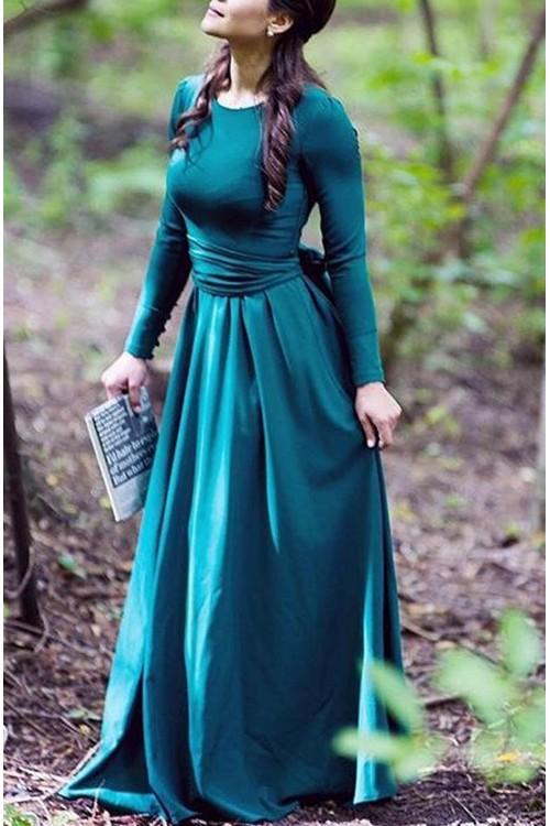 Платье Луиза (зеленый, васильковый).