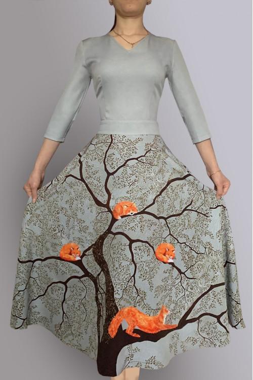 Платье Любовь (Лисы на дереве)