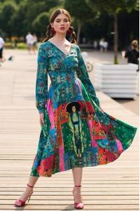 Платье Людмила 3 (Портрет Адели) из вискозы