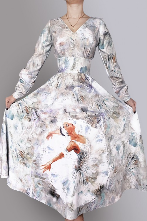 Платье Людмила 3 (Балерина) из вискозы