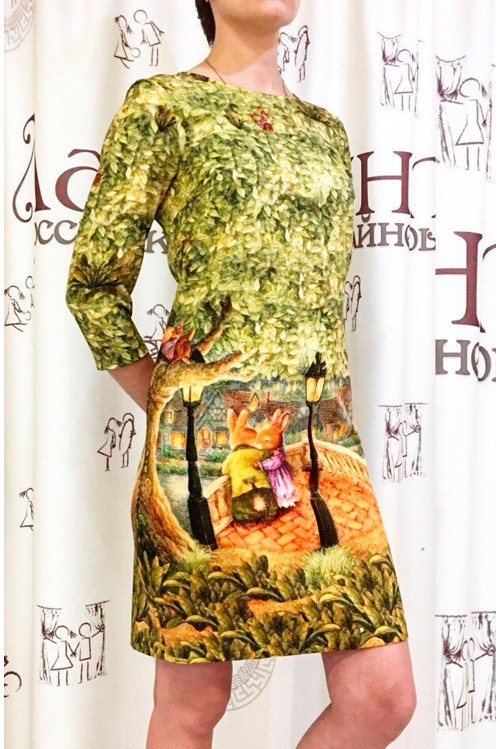 Платье Маки (Зайчики и фонарь)