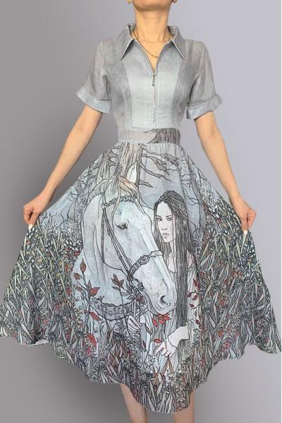 Платье Марина (Девушка и лошадь)