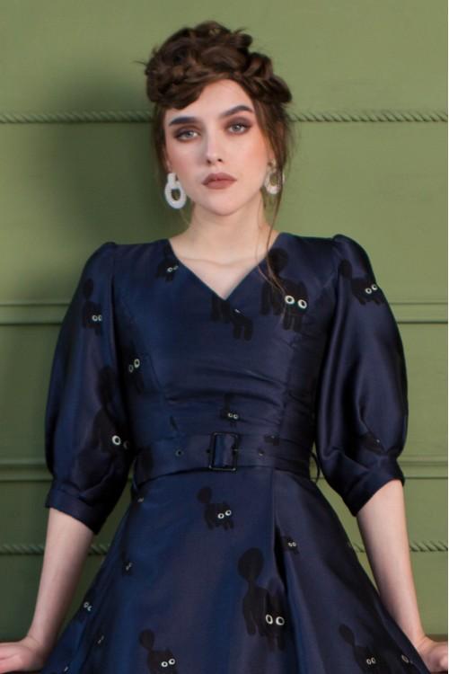 Платье Мартина (Кошки) из жаккарда
