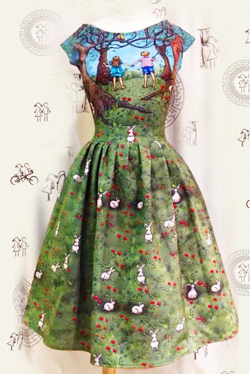 Платье Мирабель (4 вида принтов)