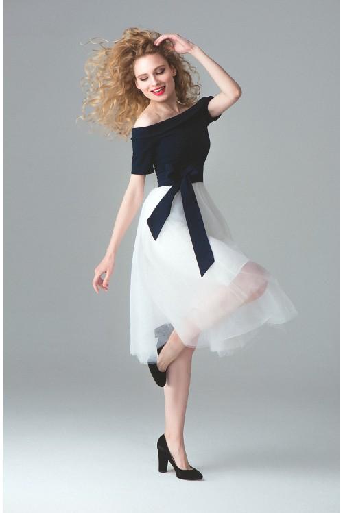 Платье Моника (сине-белое)