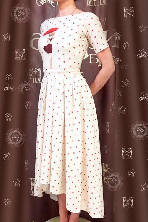 Платье Морской шлейф