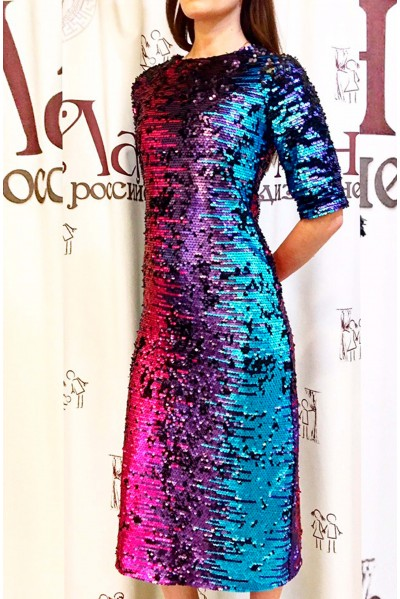 Платье Натали (Пайетки,хамелеон)