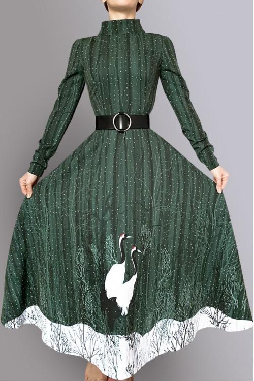 Платье Очарование (Журавли на снегу)