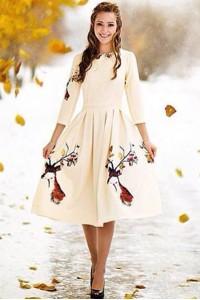 Платье Олеся (Осенний олень)