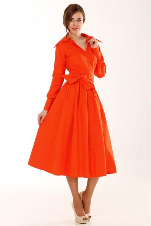 Платье Ольга (оранжевый)