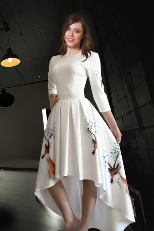 Платье Онега шлейф (Олень)
