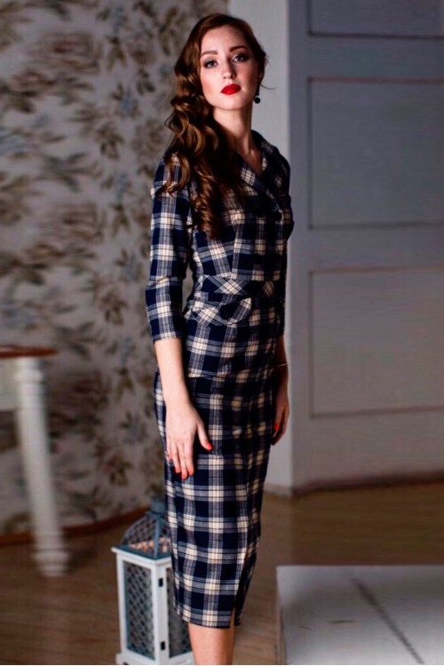Платье Регина (Клетка)