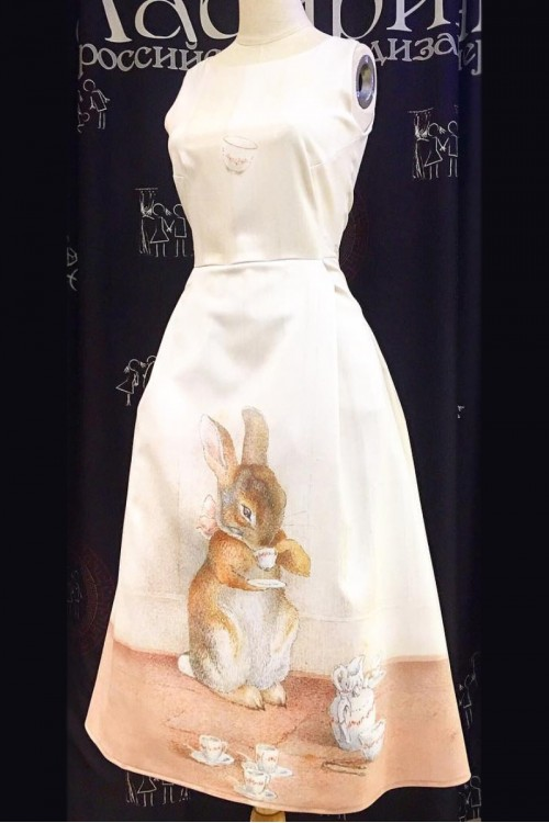 Платье Рита (Зайчик с чашкой)