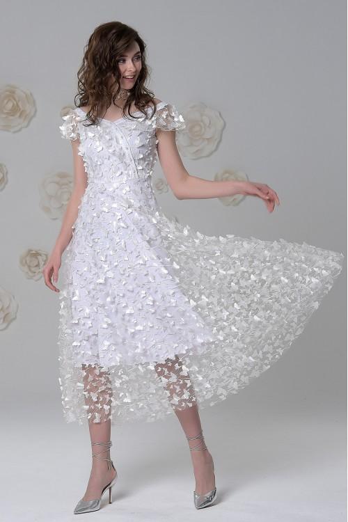 Платье Ромашка (Белые бабочки)