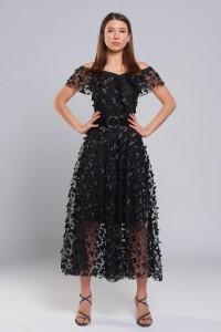 Платье Ромашка (Черные бабочки)