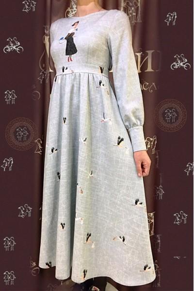 Платье Серафима (Девушка и аисты)