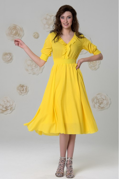 Платье Снежана (Жёлтый / Сиреневый)