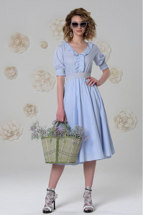Платье Снежана (Салатовый / Голубой)