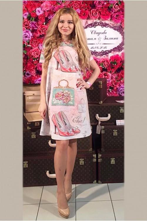 Платье Софья (Туфли и сумочка)