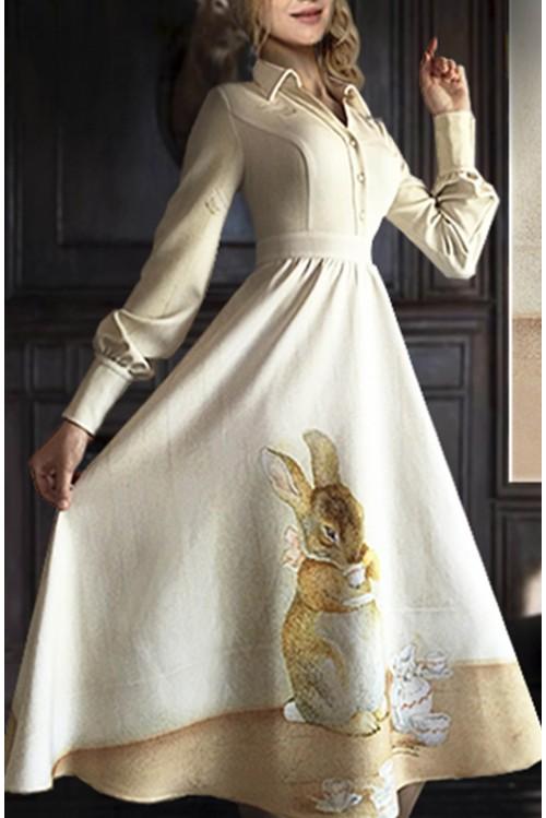 Платье Стефани (Заяц с чашкой)