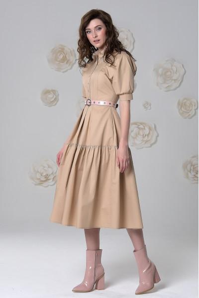 Платье Тамара (Бежевое / Хаки)