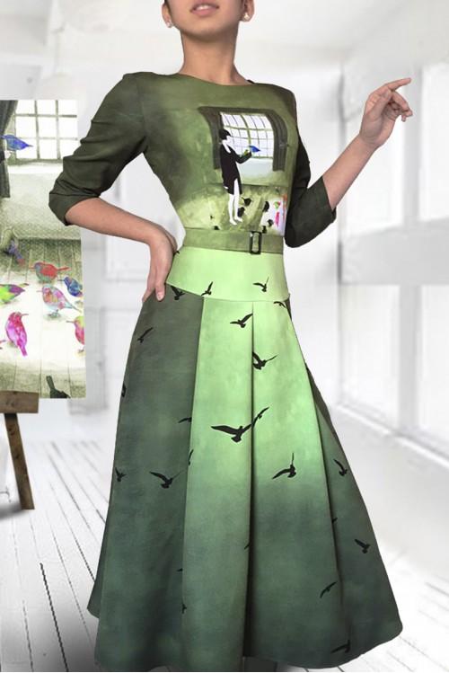 Платье Тамина ( Девочка и птицы)