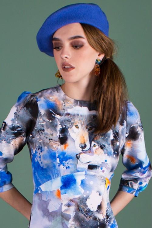 Платье Тома (Волки) из вискозы