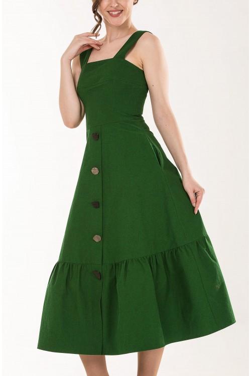 Платье Валери (зеленый,красный)